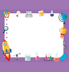 Border template with school equipment vector