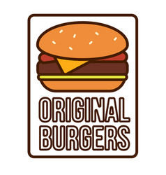 Burger logotype template vector