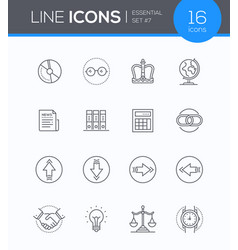 business concepts - modern line design style icons vector image
