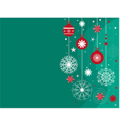 christmas background with turquoise snowflakes vector image