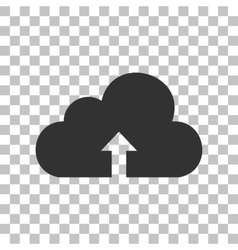 Cloud technology sign Dark gray icon on vector