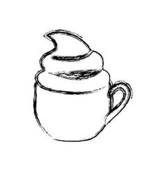 coffee cream cup icon vector image