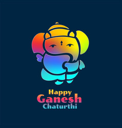 Colorful lord ganesha design for ganesh chaturthi vector