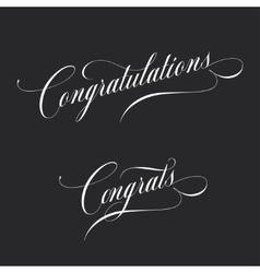 Congratulations Retro style lettering vector image