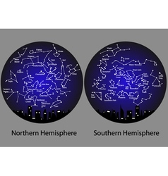 Constellations of the northern and southern vector