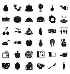 cooking coffee icons set simple style vector image
