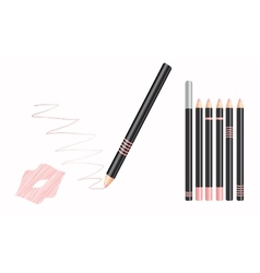 Cosmetic lip liner vector