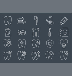 Dental icons set dental related icons set vector