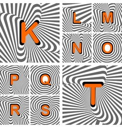 Design alphabet letters from K to T vector