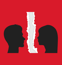 divorce couple people - man and woman vector image