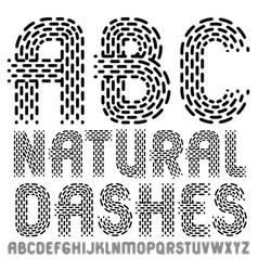 Elegant upper case english alphabet letters abc vector