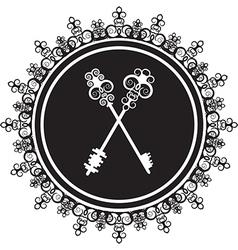 Emblem with keys vector