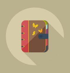 Flat modern design with shadow icons notebook vector