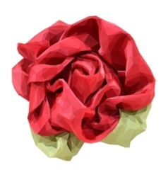 Flower Made from Fabric vector image