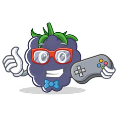 Gamer blackberry character cartoon style vector