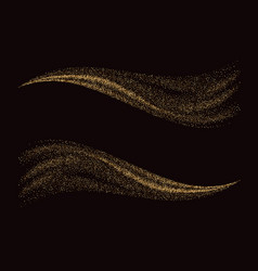 golden glittering dust tails shimmering gold vector image