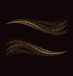 golden glittering dust tails shimmering gold vector image