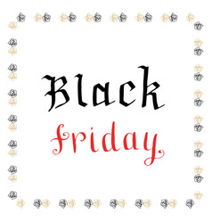 Hand writting black friday icon banner vector