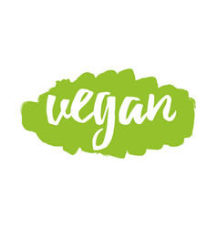 Handwritten lettering label vegan for print vector