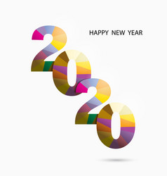 Happy new year 2020 backgroundcolorful greeting vector