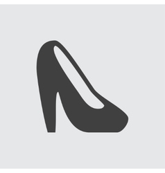 Heel shoe icon vector image