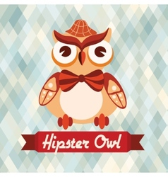 Hipster owl poster vector image