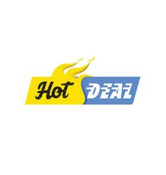 Hot deal banner white background vector