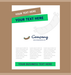hot dog title page design for company profile vector image