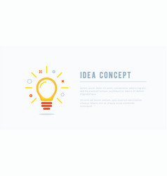 Idea concept creative solution design in memphis vector