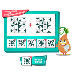 Iq educational game two pictures vector