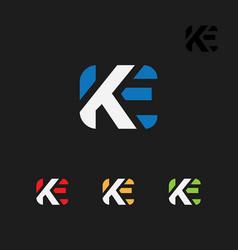 K an e letters logo symbol template vector
