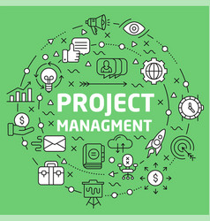 lines background project managment vector image