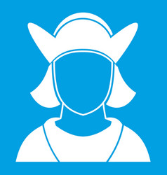 Male avatar icon white vector