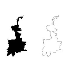 Medan city republic indonesia sumatra island vector