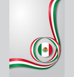 Mexican flag wavy background vector