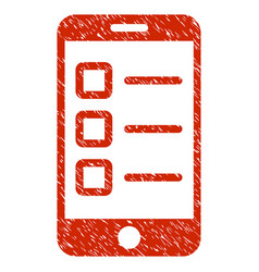Mobile test grunge icon vector