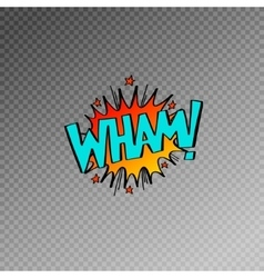 multicolored comic sound effects in pop art style vector image