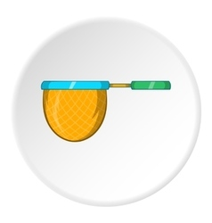Net for catching fish icon cartoon style vector image