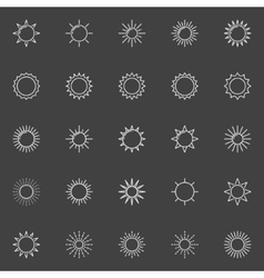Outline sun icons vector image