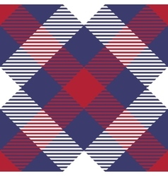 Patriotic Tartan Seamless Patterns vector