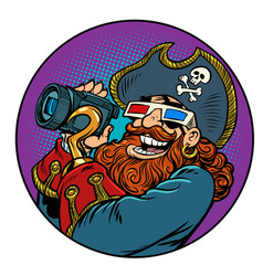 Pirate movie shooting vector