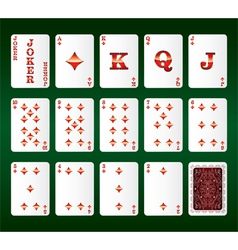 Playing cards Set Diamonds vector