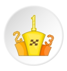Podium winners icon cartoon style vector