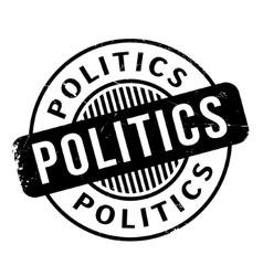 Politics rubber stamp vector