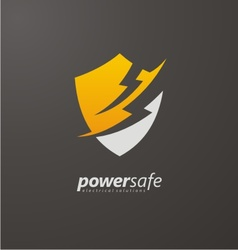 Power safe creative logo design vector