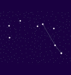 pyxis constellation starry night sky cluster of vector image
