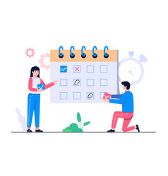schedule management concept vector image