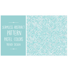 seamless abstract pattern trendy pastel vector image