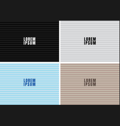 set black white blue brown color horizontal vector image