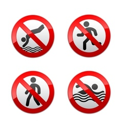 set prohibited signs - sport vector image